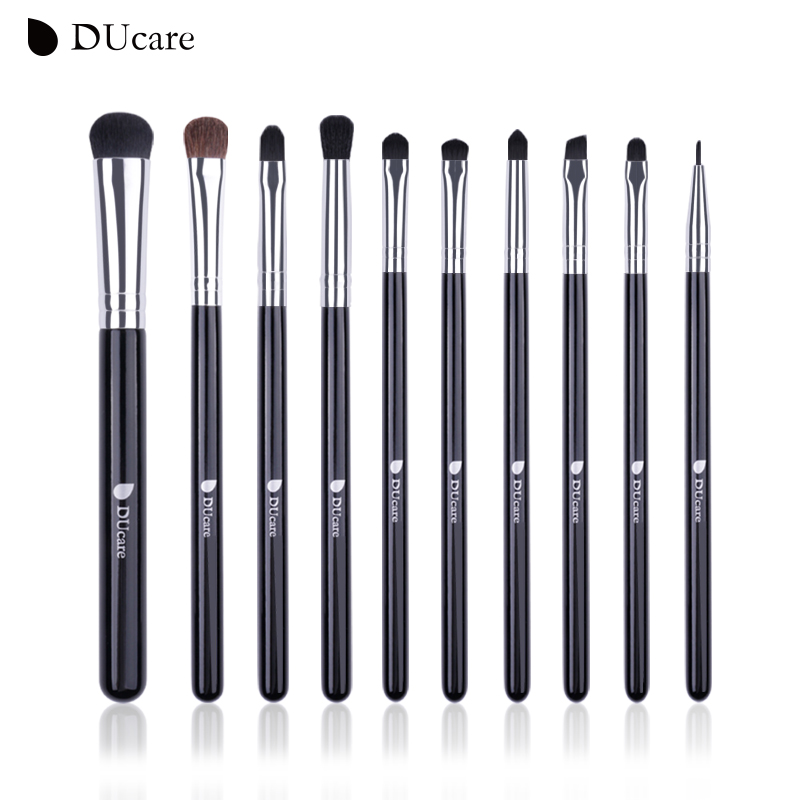 DUcare 10 PCS Brushes for Makeup Eyeshadow Eyeliner Blending Brush Eye Makeup Brush Set Pony Hair Cosmetic Tools Kit 10 15 pcs professional mermaid makeup brush set eyeshadow lip brush eye beauty tools for women cosmetic brushes kits