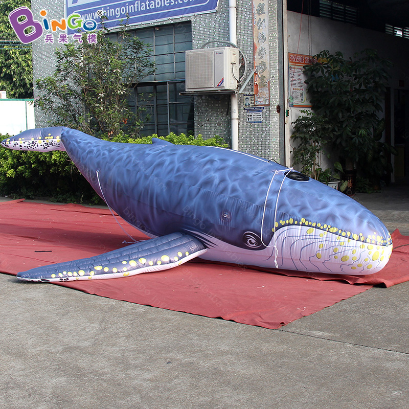 Free shipping 5M Giant Inflatable whale model on the ground for promotion vivid blow up whale balloon for advertising decoration free shipping 10m giant inflatable octopus model with digital printing for advertising blow up squid for decoration show toys