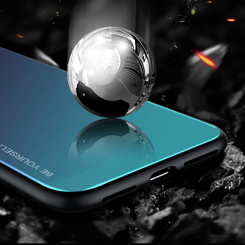 Tempered Glass Case For Samsung Galaxy S8 S9 S10 Plus S10E M10 M20 M30 Note 8 9 Aurora Colorful Cover For Samsung S8 S9 S10 Case in Fitted Cases from Cellphones Telecommunications