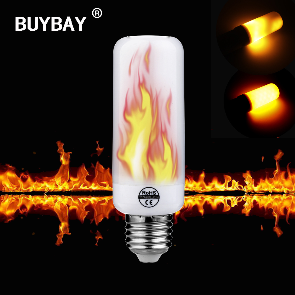 Flame Led Lamp E27 Us 6 97 Led Flame Lamp E27 E26 E14 5w Flame Fire Effect Light Bulb 110v 220v Gravity Sensor Flickering Emulation Lights Decoration Lamp In Led Bulbs