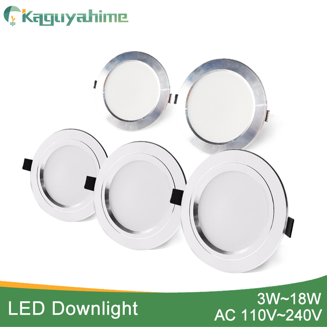 Kaguyahime 3~18W LED Surface Mounted Ceiling Light Brushed /Wire Drawing Spot Panel Down Light Recessed LED Indoor Lighting 15W