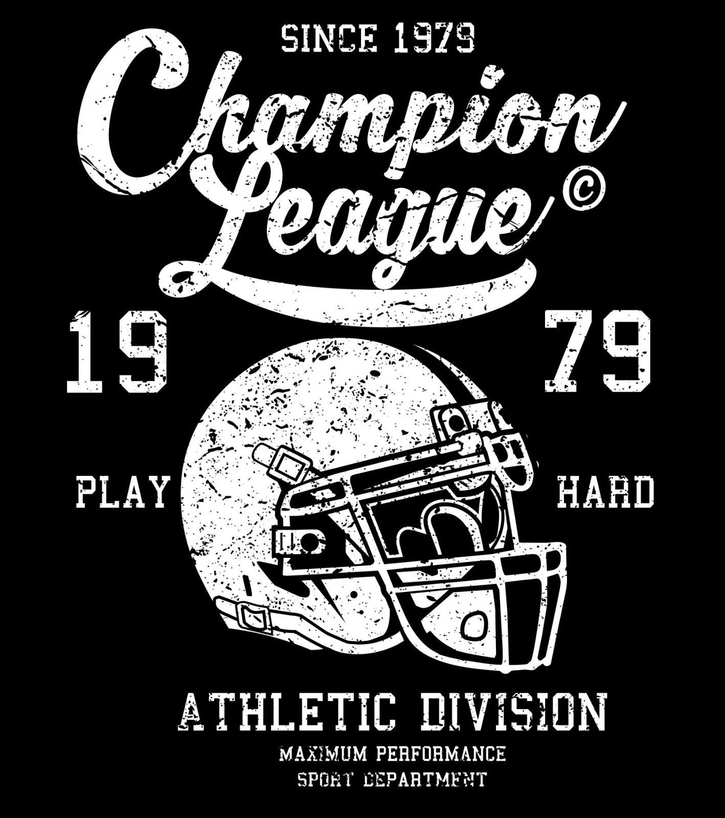 2018 New Fashion Men Tee Shirt Championship League 1979, American Footballer, USA, Adult Unisex & Female T-Shirt