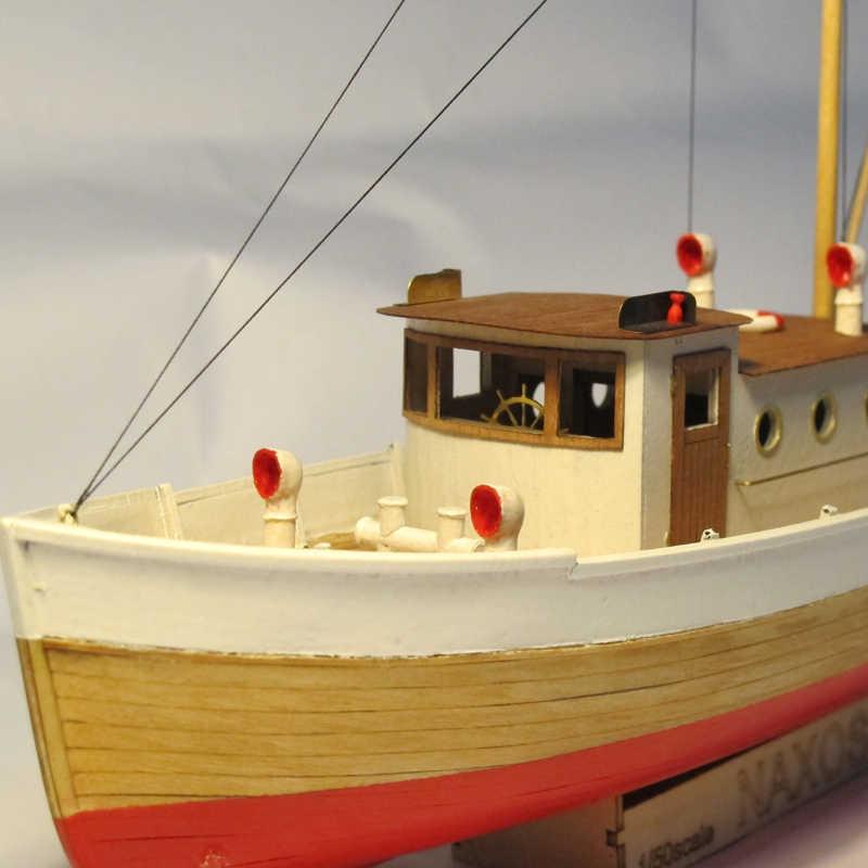 ערכות מודלים רכבת Diy תחביב דגם ספינת עץ-עץ 3d Cut הלייזר סירות-בקנה מידה 1/50 נקסוס (עם) עץ סירת דיג ערכת סטטי