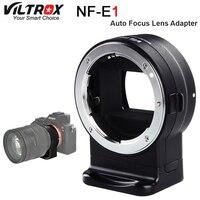 Viltrox NF E1 adaptador de montagem de lente de foco automático para nikon f monte série lente para sony e mount câmera lente anel adaptador Adaptador de lente     -
