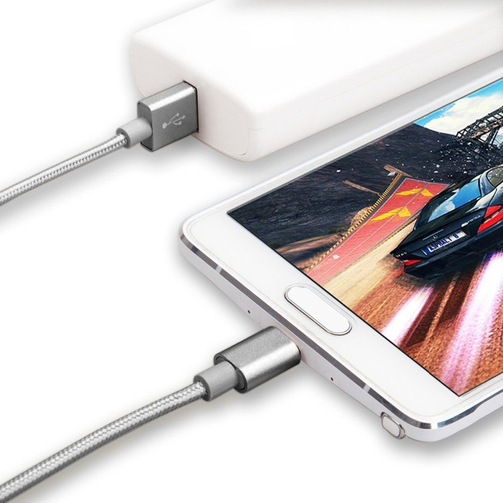 5V2A Micro USB Cable Fast Charging Mobile Phone USB Charger Cable 1M Data Sync Cable for