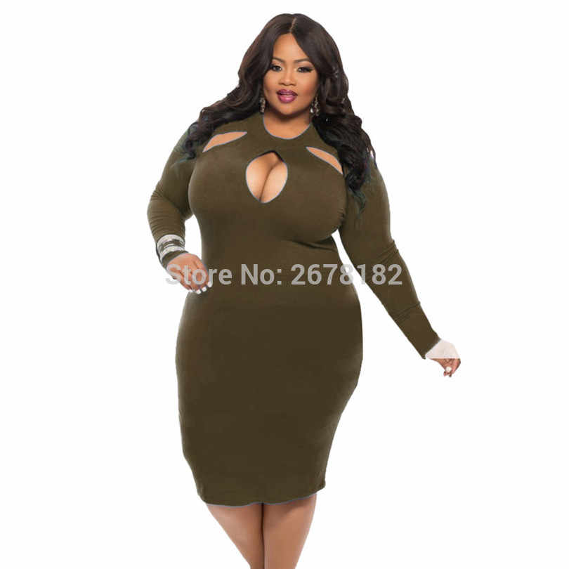 ... Large Size 4XL Dress 2018 Plus Size Midi Dress Casual Hollow Out Loose Dresses  Fat MM a941936e7051