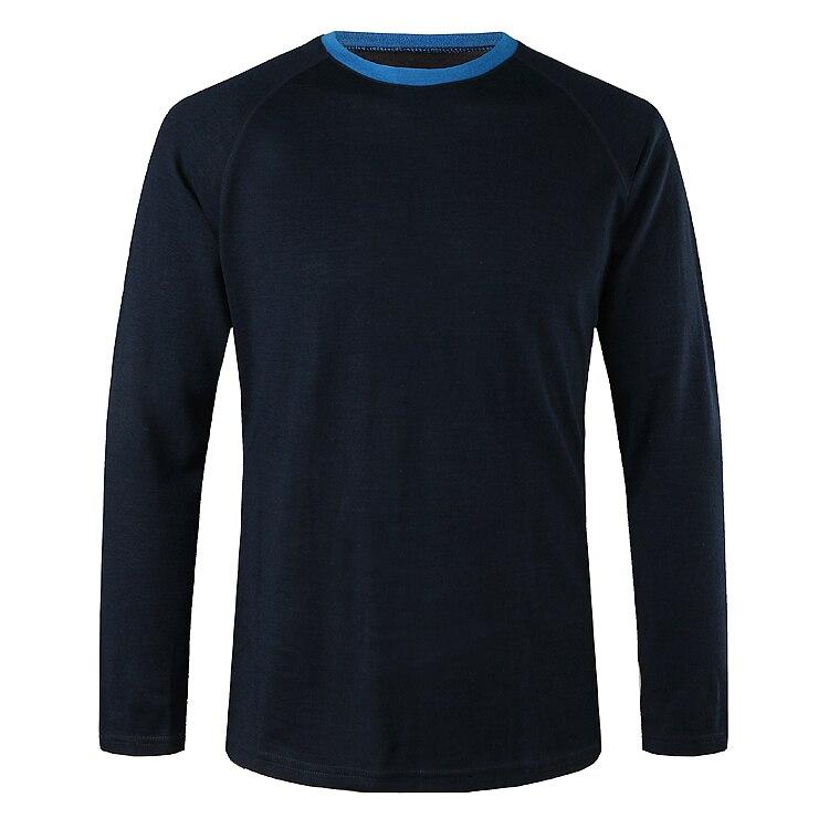 Superfine Merino wool sports T shirt men base layer sportswear long sleeve quot 3 Colors option quot