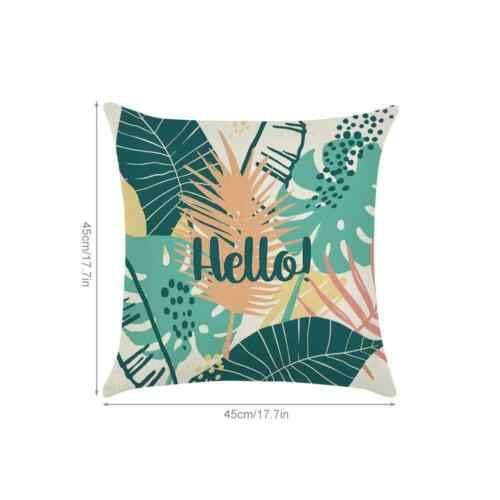 พืชเขตร้อนสีเขียว Rainforest Summer Theme หมอน Case โซฟาเบาะ Cover