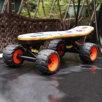 Mini Drift Skate Board Maple Deck Longboard Skateboard Portable Peny Board Fish Plate Four Wheel Street
