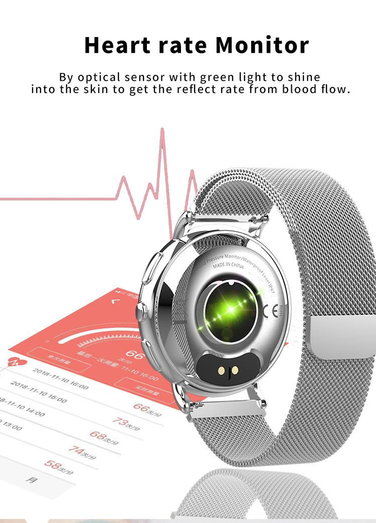 Montre intelligente femmes moniteur de fréquence cardiaque 4