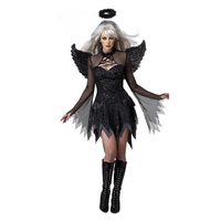 New Black Angel Sexy Angels Dress Black Angel Demon Sexy Adult Costume Cosplay Clothing Festive & Party Supplies