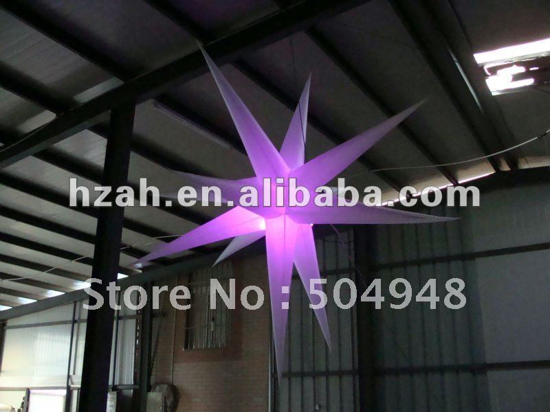 LED hanging Inflatable lighting starLED hanging Inflatable lighting star