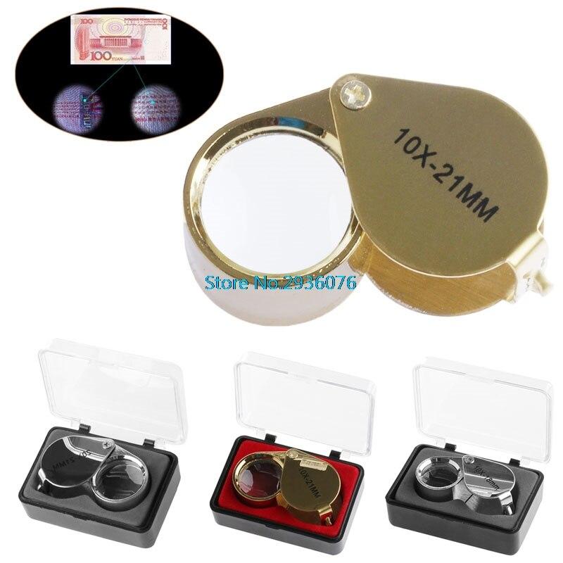 Mini Triplet Jeweler Eye Loupe Magnifier Magnifying Glass Jewelry Diamond 10X 21mm 20X 21MM 10X 18MM