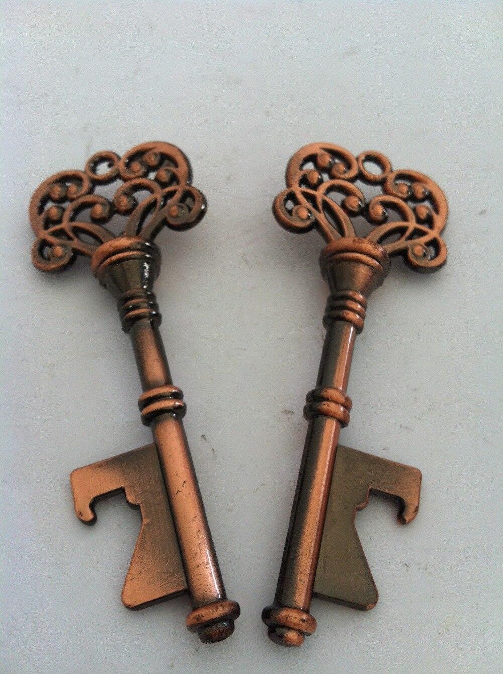 antique bronze skeleton key bottle opener wedding favor bridal shower gift in openers from home. Black Bedroom Furniture Sets. Home Design Ideas
