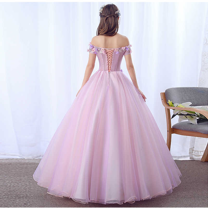 2019 מכירה לוהטת ורוד Quinceanera שמלות עבודת יד פרחי נסיכת שמלות Vestido Quinceanera Vestido נשף 15 Anos