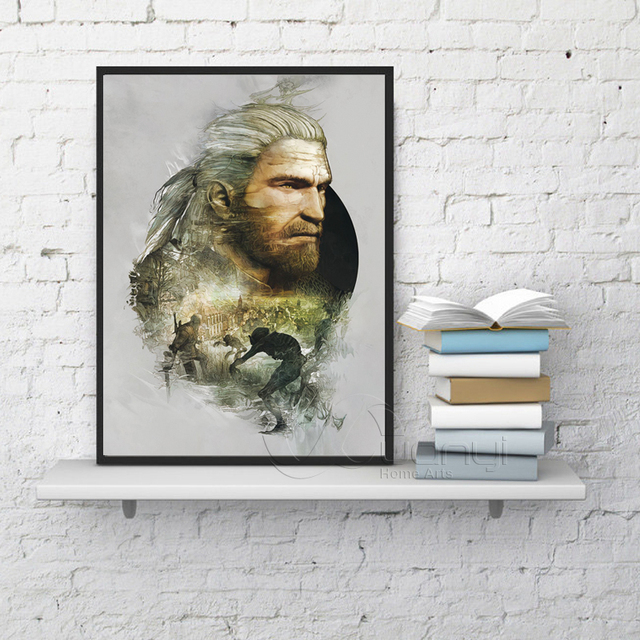 The Witcher 3 Hunting Wild Game Hot Game Artistic Posters And Prints Wall Art Canvas Painting Wall Pictures For Living Room 1