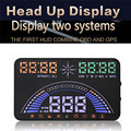 1 PC 5.8 Inch Universal Car OBD 2 HUD & GPS Speedometer Projection Dashboard New Tech