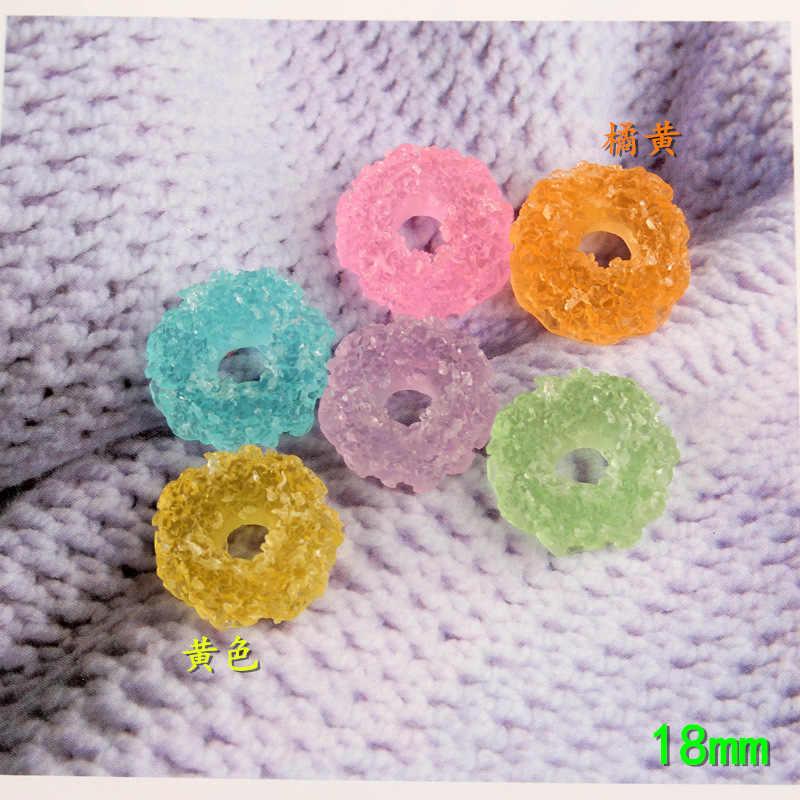 10pcs 18 millimetri Miscela di Resina kawaii cabochon rotondi del cerchio contenitore di caramella di zucchero dolce di fascini gioielli fai da te che fanno ornamento della decorazione del mestiere materiale