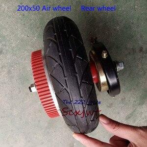 Image 5 - 8 pollici Ruote posteriori Con Ingranaggio di Azionamento + freno + kit assale 200x50 pneumatico Gonfiabile tubo/solido pneumatico con cerchi in lega per scooter Elettrico