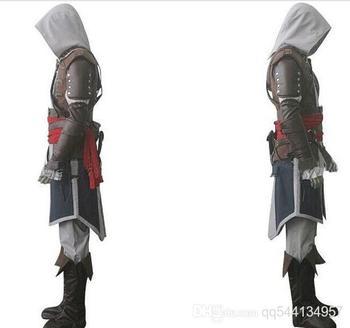 NUOVO Trasporto libero di Assassin 'S Creed IV 4 Black Flag Edward Kenway Cosplay Costume Intero Insieme Su ordine di Spedizione veloce