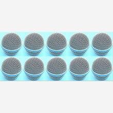 10 sztuk nowy wymiana głowica kulowa Mesh mikrofon kratka dla Shure BETA58 BETA58A SM 58 SM58S SM58LC