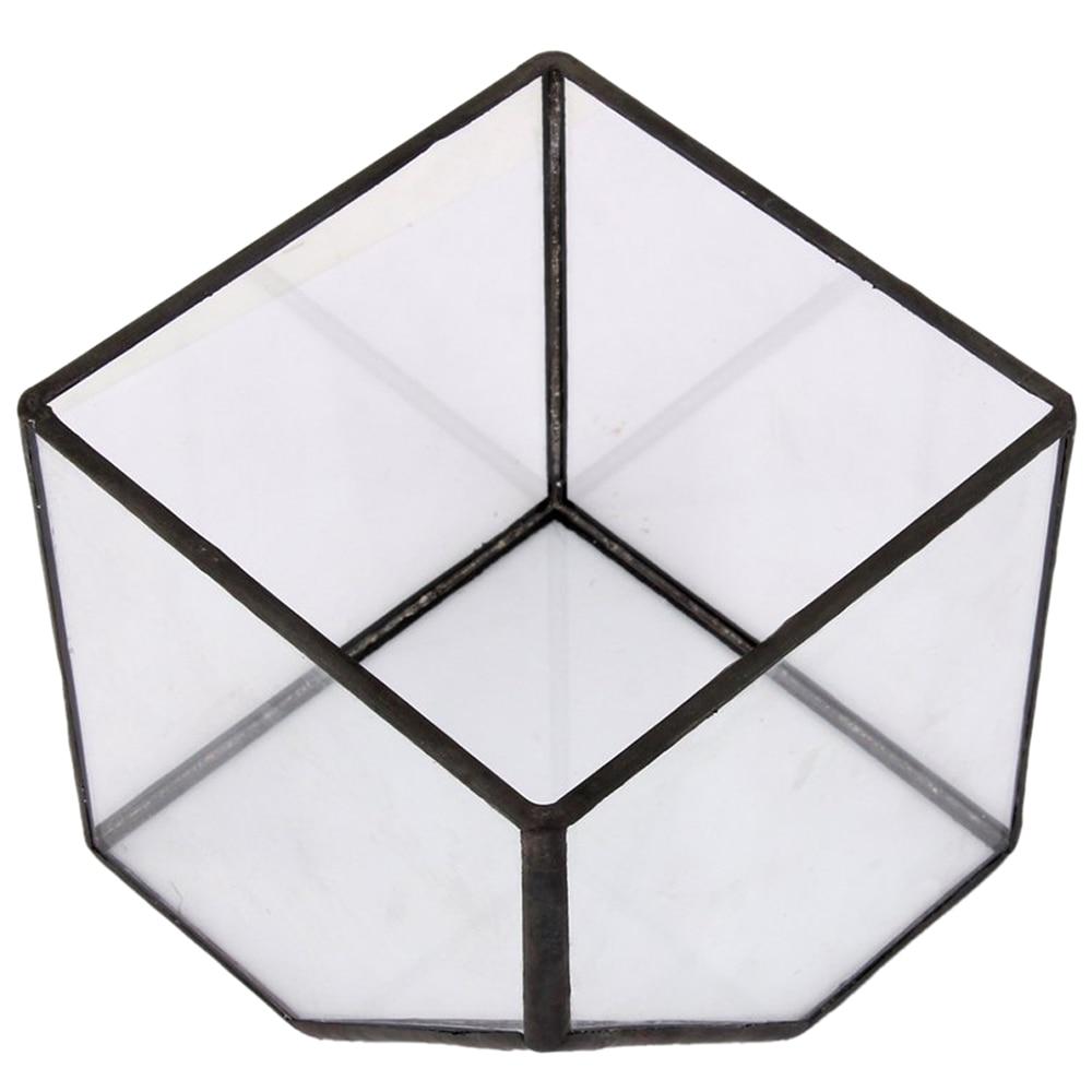 Glass terrarium Cube Fairy garden house greenhouse flowerpot size S