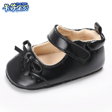 Newborn Baby Girl Princess shoes Butterfly-knot PU Leather First Walkers Soft Soled 0-18 months Infant Toddler shoes 2 Colors