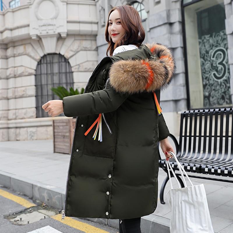 dark 2019 Long De noir Dames Col Épaississement Vestes Outwear Chaud Green Capuche Grande Femme Taille À Femmes D'hiver Parka Red Beige gris Fourrure Manteau army qgx8wX4A