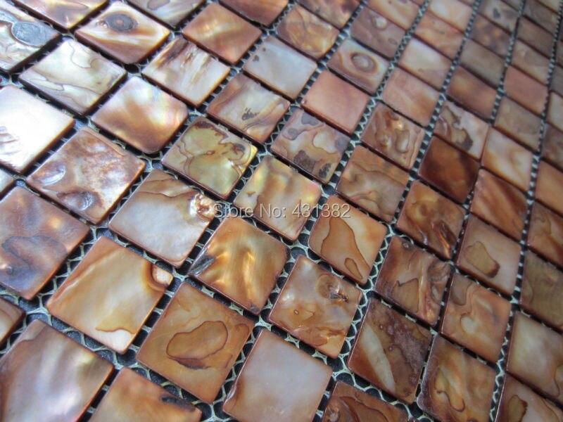 Gouden Mozaiek Tegels : Hyrx zee bloem shell mozaïek tegel gouden parel tegel parelmoer