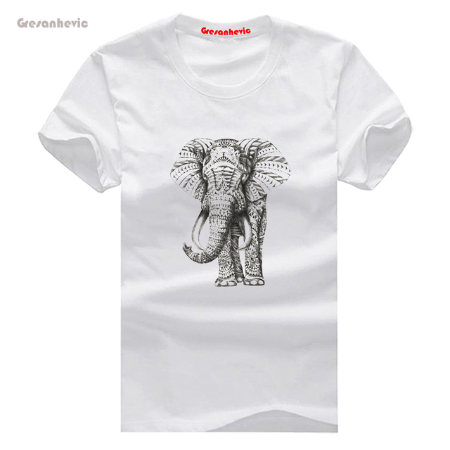 c953525e9f345 Ornate Elephants New Fashion Man T-Shirt Cotton O Neck Mens Short Sleeve  Mens tshirt Male Tops Tees Wholesale