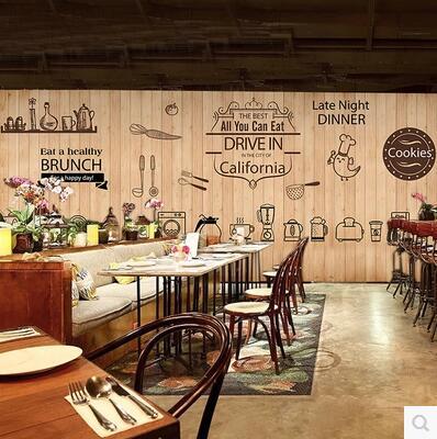 Cute Coffee Icon Large Mural Wallpaper Cafe Dessert Tea Shop Lounge