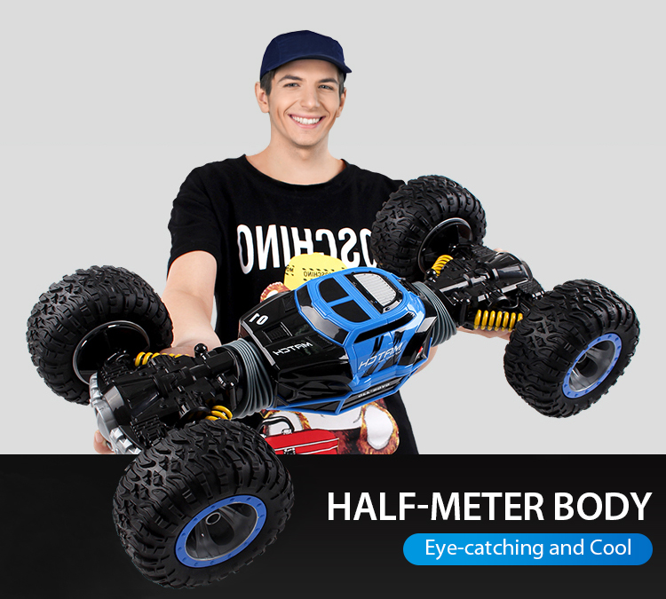 1:10 Scale Double-sided 2.4GHz RC Car One Key Transformation All-terrain Vehicle Varanid Climbing Car Remote Control <font><b>Toys</b></font>