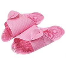 Soft Health Care Portable Women Summer Slipper Shoes 2016 Foldable Fitness Massage Shoes Unisex Novelty Rubber