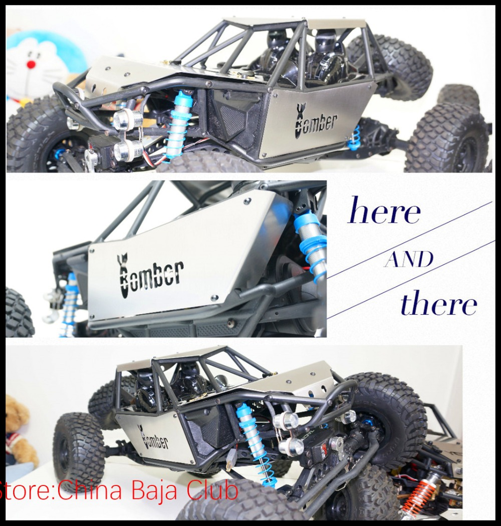 Axial 90048 90053 Bomber RR10 Metal Body Cover Frame Protection Armor