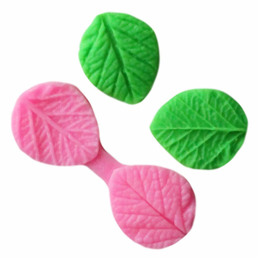 1PC Silicone Flower Leaves DIY Cake Mold Chocolate Fondant Polymer Clay Baking Mold Tools hot sale