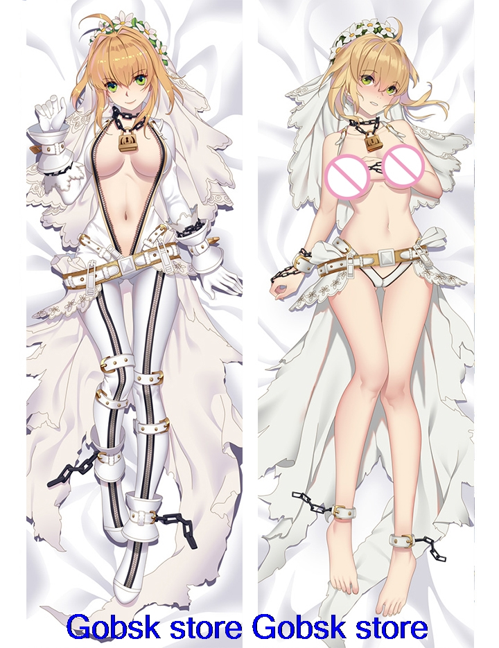 Anime Fate Stay Night Saber Lily Otaku Dakimakura Hugging Body Pillow Case Cover