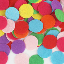 Round Felt Fabric Pads Patches Die Cut Circle Felt Pad for Fabric Flower Hair rope Accessories DIY Handmade Scrapbook badges(China)