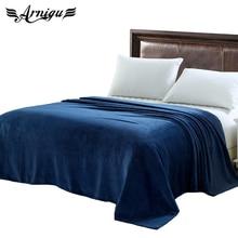 Queen size mantas 200×230 cm 14 colores diferentes sofá/de aire/juegos de Franela Mantas de viaje de color sólido manta o sábana invierno