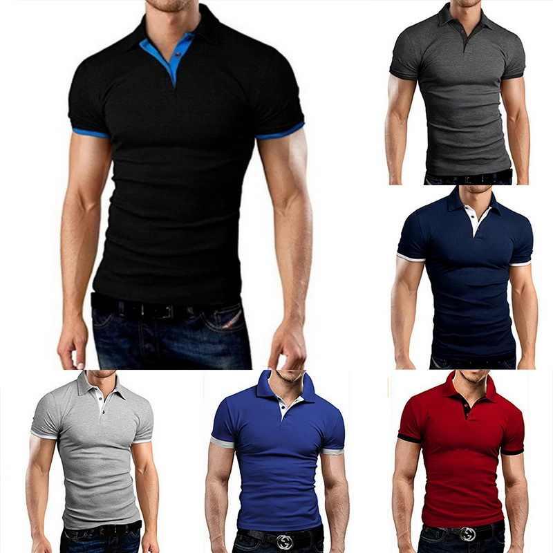 NIBESSER 男性ブランドポロシャツ 2019 夏のファッションストリート男性半袖ポロシャツカジュアルスリム固体ポロシャツホット