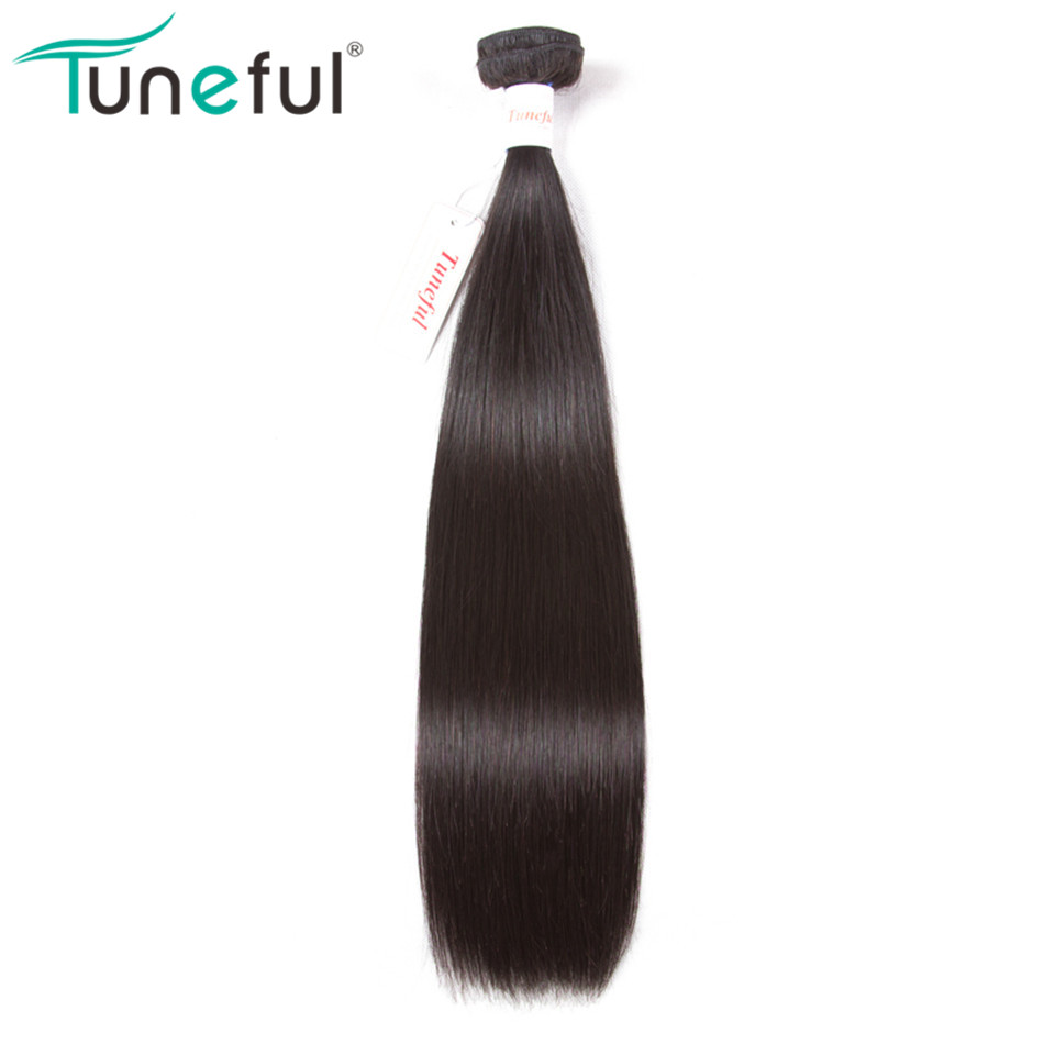Tuneful Brazilian Straight Human Hair Weave Bundles 1 Pcs 100% Remy Hair Weft Bundle Hair Extensions Can Be Dyed 10-28