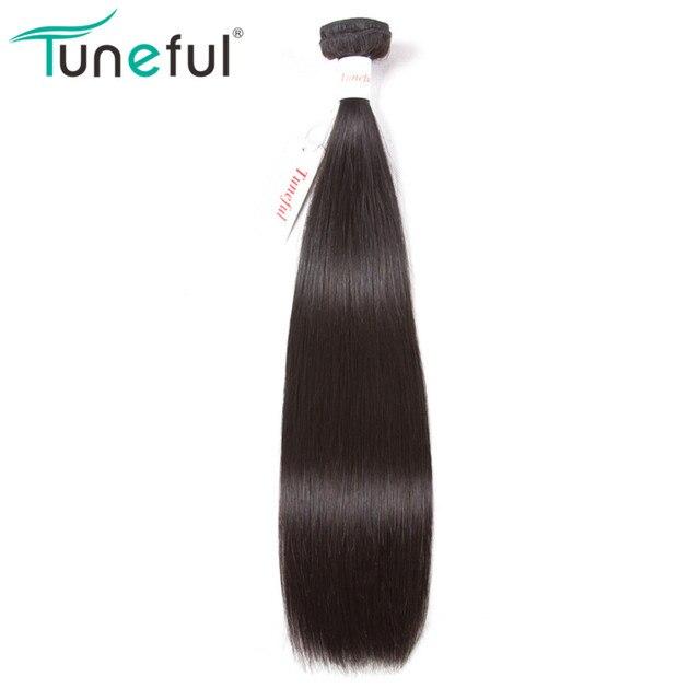 Tuneful brasileño recto de la armadura del pelo humano paquetes 1 piezas 100% de la trama del pelo de Remy paquete extensiones de cabello puede ser teñido 10 -28