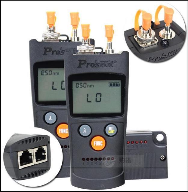 Proskit MT-7602 4 en 1 medidor de potencia De Fibra óptica Seis probador de fibra óptica de longitud de onda de Láser de fibra Óptica Red de cable tester