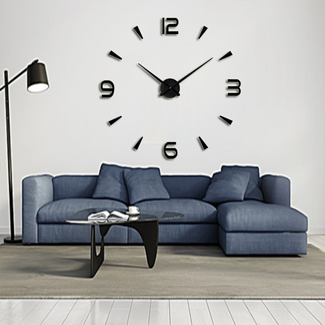 muhsein Wall Clock Modern design Home DIY wall clock home decoraction Large wall sticker Unique Gift Free shipping