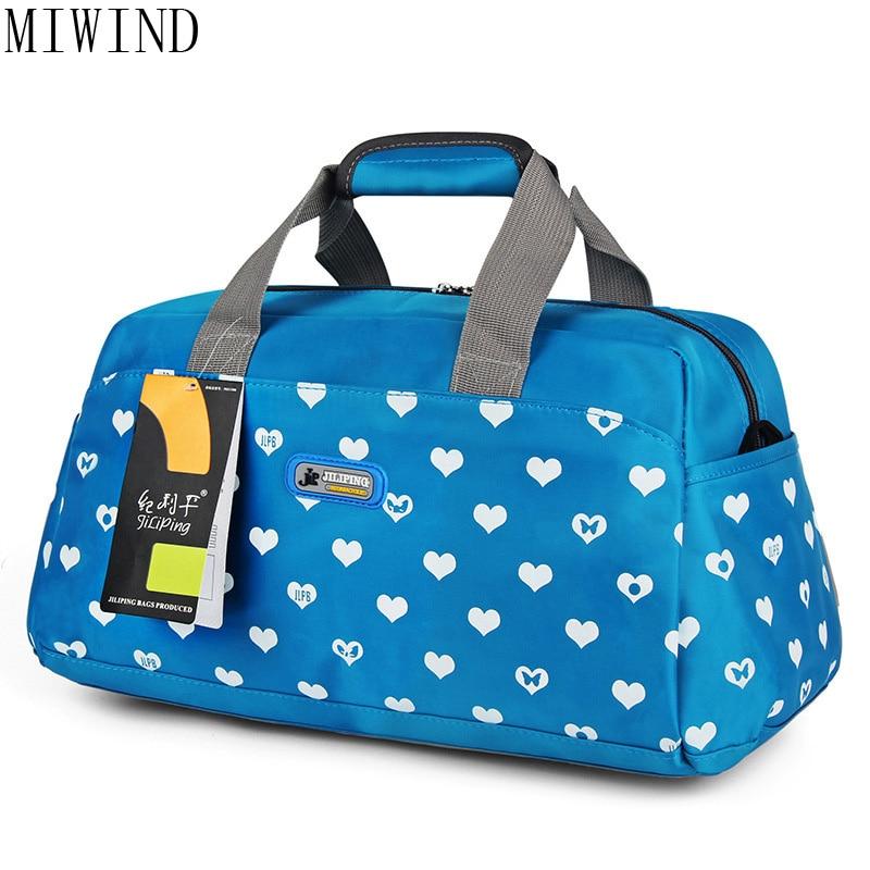 MIWIND 2017 sac de voyage pliant grande capacité sacs d'impression étanche Portable sac fourre-tout pour femmes sacs de voyage femmes TXX808