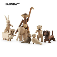 Home Decoration Boutique Wood Ornament Animal High end Gift Ideas Birthday Gift Creative Madehand Solid Wood Carving 05364