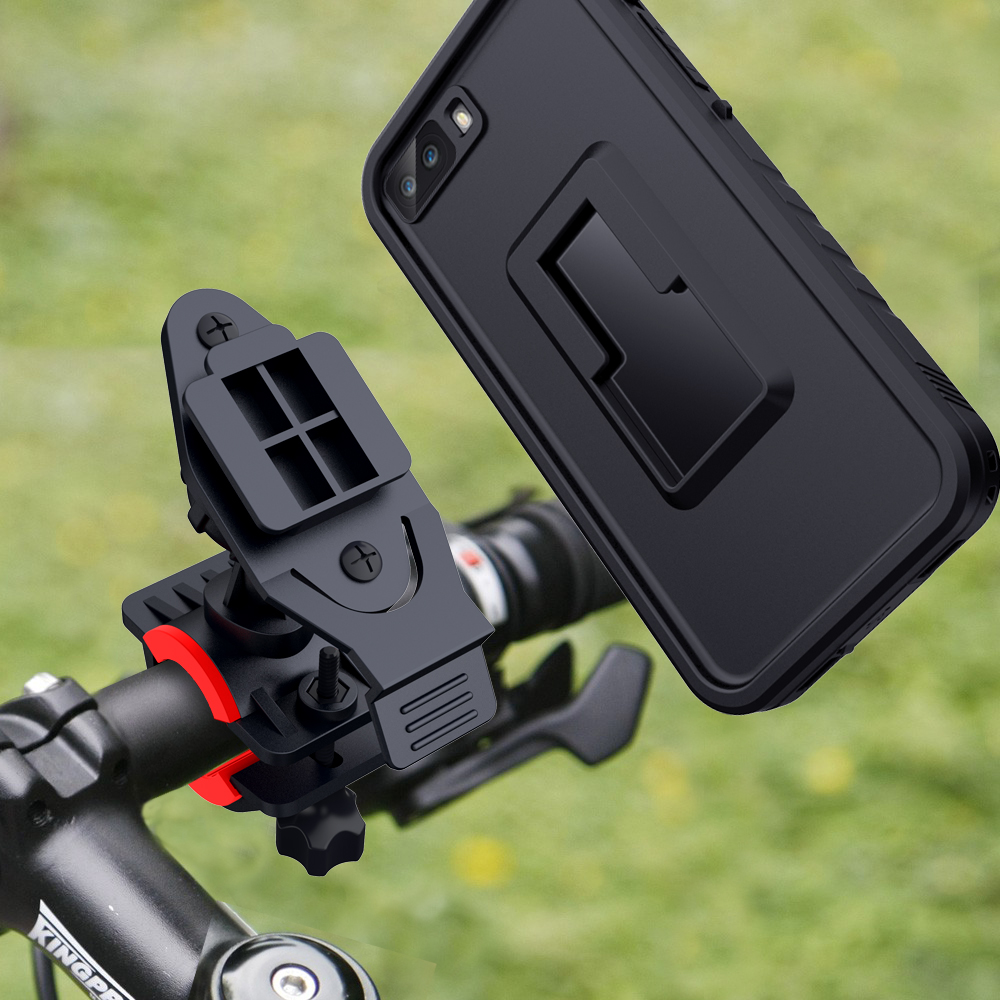 For iPhone 7 8 Shockproof Case bag 360 RotateBike phone holder Motorcycle GPS Handlebar Cradle Bicycle phone stand Mount in Phone Holders Stands from Cellphones Telecommunications