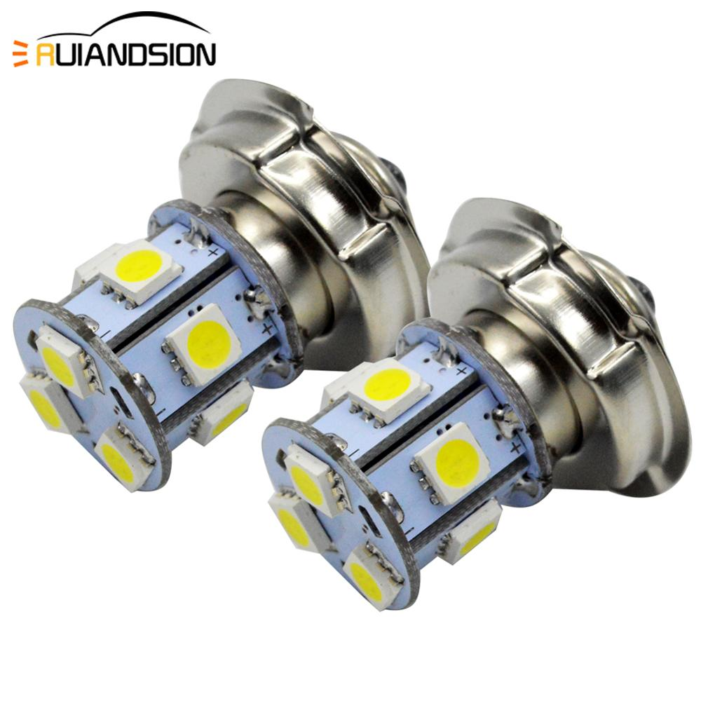2x P26S led motorcycle Headlight 5050 led Moto 9 smd led motorbike bulbs light 3W 10-80V 6000K Scooter Head Lamp 12V 24V 30V 80V