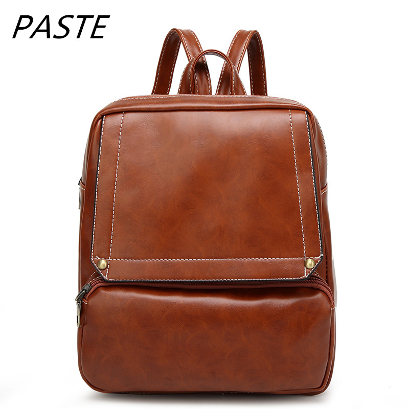 New women fashion casual shoulder bag simple trend student bag retro travel backpack bags for school