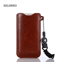 SZLHRSD For Oukitel C8 4G Mobile Phone Bag Case Hot Selling Slim Sleeve Pouch Cover Lanyard