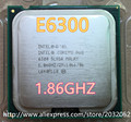 Intel Core 2 Duo E6300 CPU Processor  1.86Ghz/ 2M /1066GHz  Socket 775 SL9SA scrattered pieces working 100% Free Shipping)